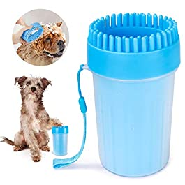 FULNEW Portable Dog Paw Cleaner Upgrade Dog Paw Washer Cup Paw Cleaner for Cats and Small/Medium/Large Dogs