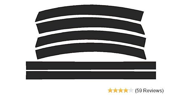 20/% Dark Smoke Precut Vinyl Tint Overlays for 2014-2017 Chevy Corvette C7 Sidemarkers /& Reflectors