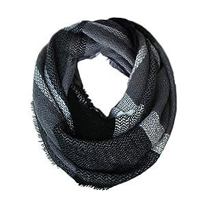 MissShorthair Fashion Infinity Scarf For Women Lightweight, Large Infinity Scarf Wrap Shawl, Womens Plaid Scarf Soft