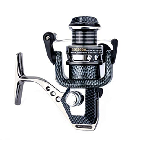 FELICIF Spinning Fishing Reel 10+1 Bearings Left Right Interchangeable Handle for Saltwater Freshwater Fishing with Double Drag Brake System (Size : 4000)