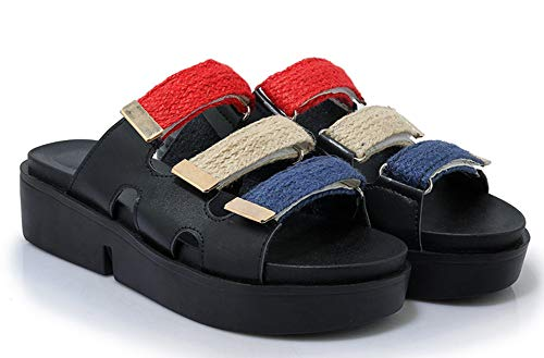 Multicolore Confortable Easemax Noir Plate Mules Femme Chaussure Plateau OExwwZnaqR