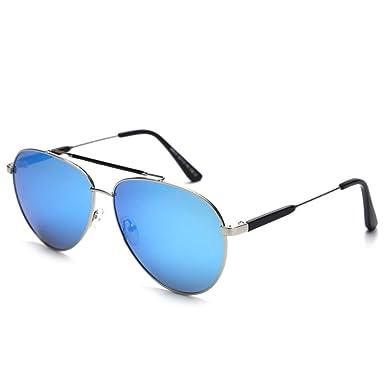 yeahbo Moda para hombre retro pequeño oval gafas de sol para ...
