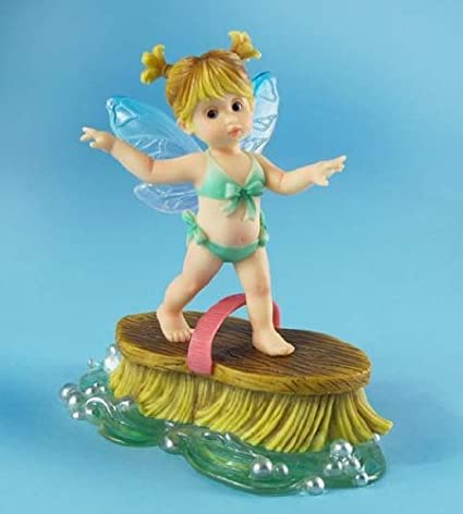 Superbe My Little Kitchen Fairies From Enesco Little Surfer Fairie Figurine 4.5 IN