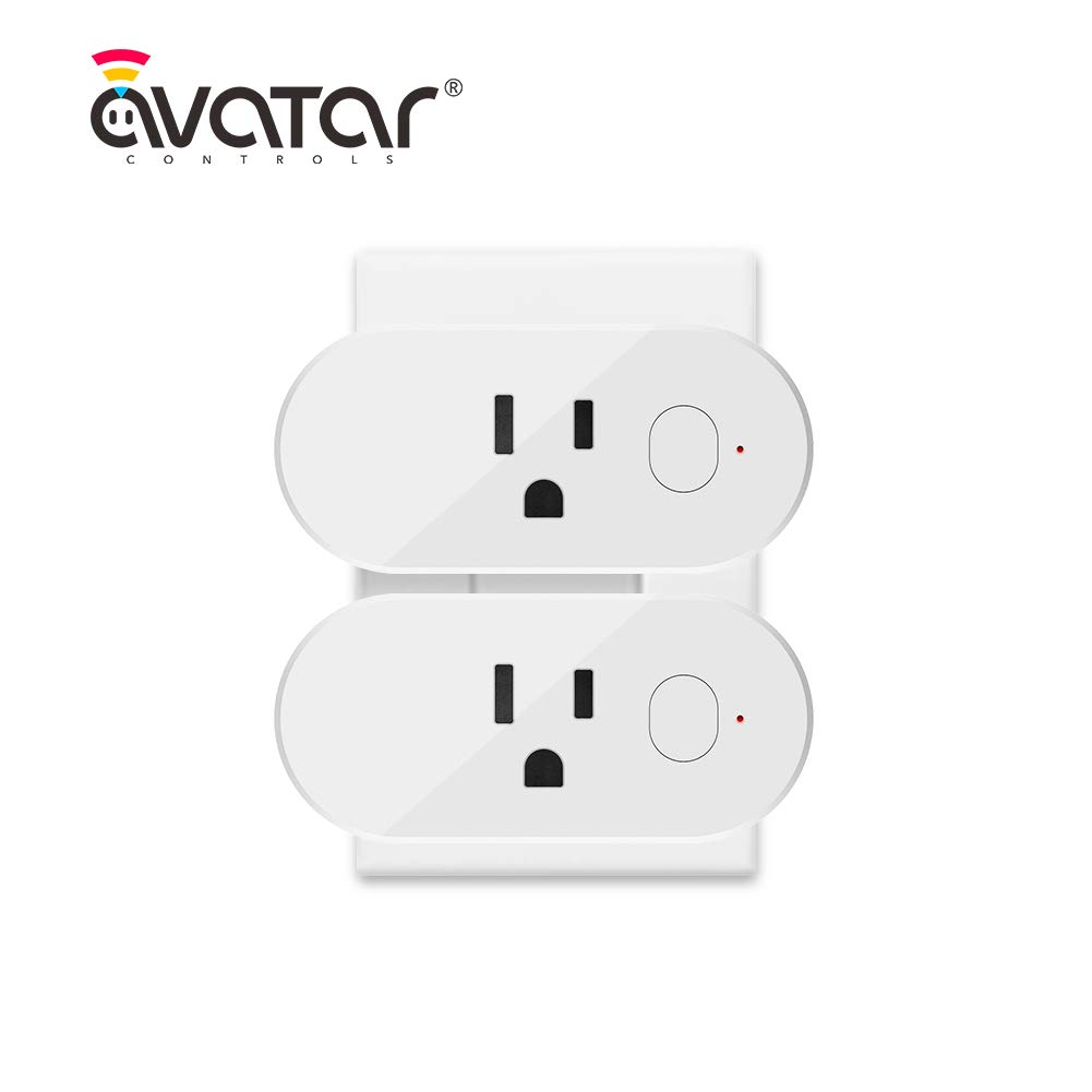 AvatarControls Smart Wifi Plug, Mini Wireless Timing Socket Outlet with Energy Monitoring,Compatible with Alexa/Google Assistant,Remote Control Power ON/OFF via Android or iOS APP(2-Pack)