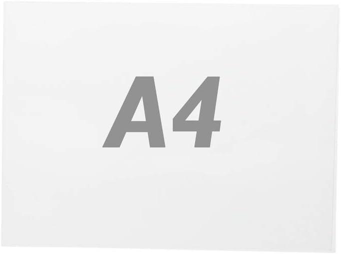 PrimeMatik - Lámina de plástico transparente doble para marco A4 para rotulación