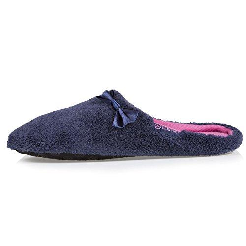 Damen-Pantoffeln mit Satinschleife