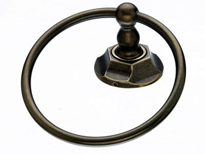 Top Knob Edwardian Bath Ring - ED5GBZB - Greman Bronze - Hex Back Plate