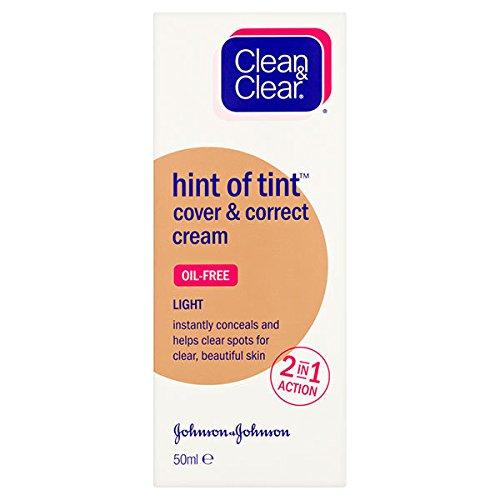 Clean & Clear Hint of Tint Cover and Correct Cream, Medium 50 ml Johnson & Johnson 8899700