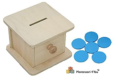 Materiale Montessori, Scatola dell'infilare -gettoni-