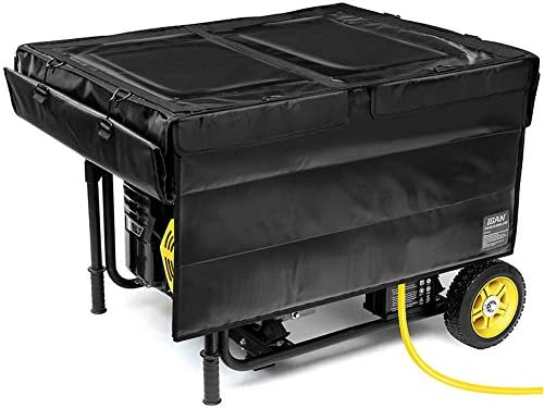 IGAN Generator Tent Running Cover, Ultra Heavy Duty Tarpaulin Enclosure, Portable All-Weather Generator Rain Shelter for Most 3500w-12000w turbines, Black-1