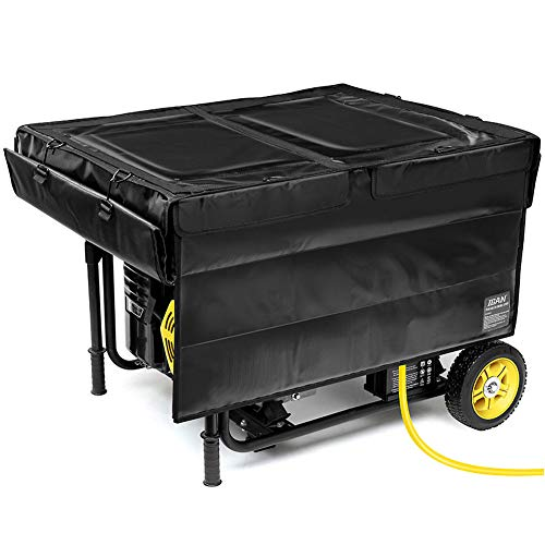IGAN Generator Tent Running Cover, Ultra Heavy Duty Tarpaulin Enclosure, Portable All-Weather Generator Rain Shelter for Most 3500w-12000w generators, Black-1
