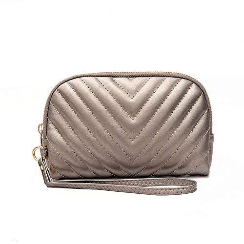(Women Vintage Snake Bone Chain Mobile Phone Bag Casual Clutch Bag Wallet (Khaki))