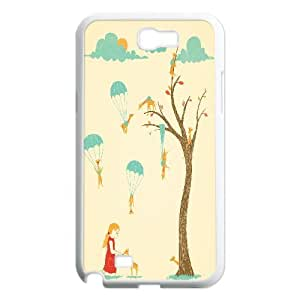 Invasion of the Tiny Giraffes Samsung Galaxy Note 2 Case, Dustin - White