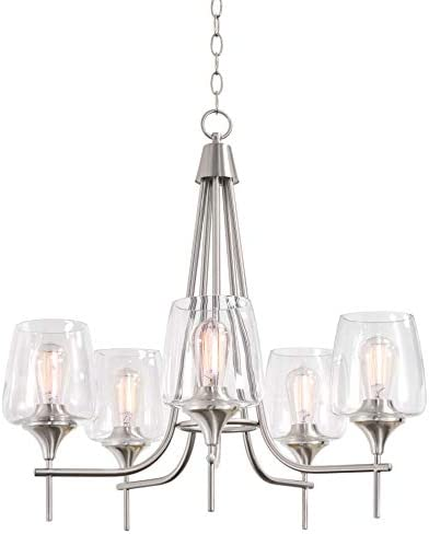 Kira Home Stella 26″ Large Modern Chic 5-Light Chandelier Wine Glass Shade