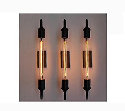 HT vintage steam pipe retro black metal wall lamp for Bathroom Vanity Lights/porch light