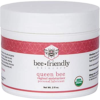 Organic Vaginal Moisturizer & Personal Lubricant By BeeFriendly, USDA Certified, Natural Vulva Cream For Dryness, Itching, Irritation, Redness, Chafing Of Vagina Due To Menopause & Thinning 2 oz