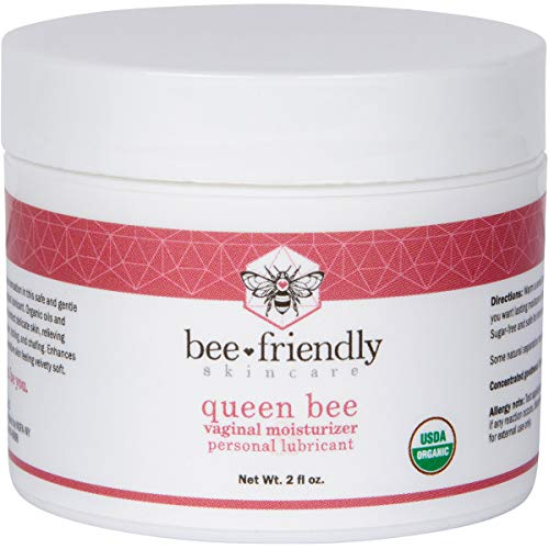 Organic Vaginal Moisturizer & Personal Lubricant By BeeFriendly, USDA Certified, Natural Vulva Cream For Dryness, Itching, Irritation, Redness, Chafing Of Vagina Due To Menopause & Thinning 2 oz from BeeFriendly