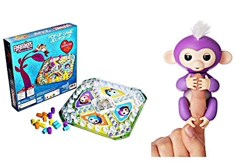 Fingerlings Pop Up Game and Interactive Monkey Mia (2 Piece Bundle)