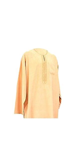 2 Piezas árabe Camiseta Vestido Islam Thobe Pantalones de del Norte de África Libia Afgano Largo: Amazon.es: Ropa y accesorios