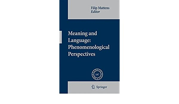 Meaning and language phenomenological perspectives meaning and language phenomenological perspectives phaenomenologica filip mattens 9781402083303 amazon books fandeluxe Gallery