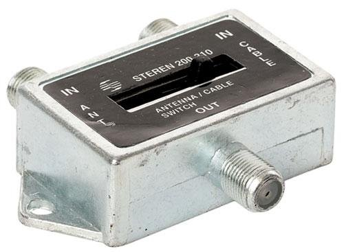 - Steren 2-Way Coaxial A/B Slide Switch