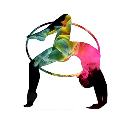 Rhythmic Gymnast Abstract Smoke Silhouette Color Vinyl Sports Car Laptop Sticker - 6""