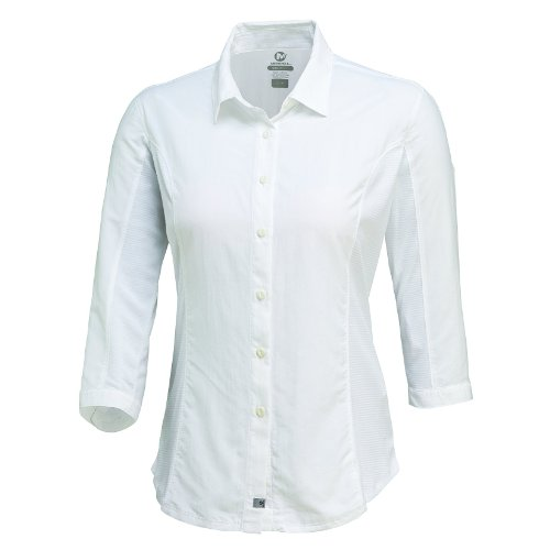Merrell Women's Claire Button Up Shirt, White, Small (Merrell Wrap Hiking)