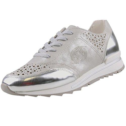 Dockers by Gerli Damen Sneaker Silber (Metallic), Schuhgröße:EUR 42