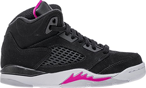 Jordan 5 RETRO GP GIRL PRE SCHOOL girls basketball-shoes 440893-029_12C - BLACK/BLACK-DEADLY PINK-WHITE