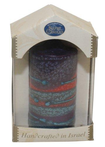 Majestic Giftware SC-SRPL-P Safed Pillar Havdalah Candle, 3 by 6-Inch, Sunrise Purple (Safed Pillar Candles)
