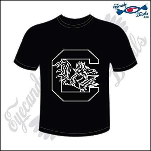 9d8d22e6b Eyecandy Decals USC Gamecock Block C White on Black Size Small T-Shirt