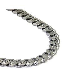 "Italian cut Titanium 10MM Curb Necklace Chain (Length 16"" - 40"")"