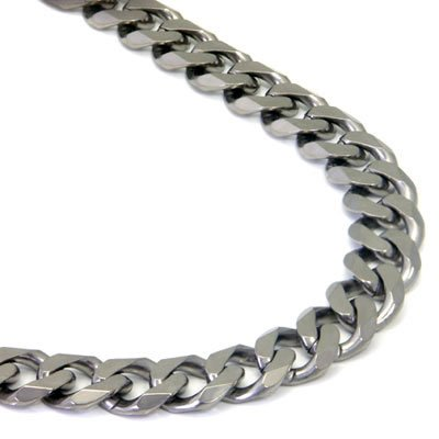 Italian cut Titanium 10MM Curb Necklace Chain 24
