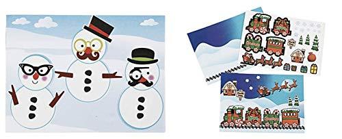 DG Shopping Spree Holiday Sticker Scene Set - Make a Snowman and Christmas Train