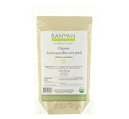 Banyan Botanicals Ashwagandha Powder – USDA Certified Organic, 1/2 Pound – Adaptogenic Ayurvedic Herbal Supplement That Promotes Vitality & Strength – Support for Stress-free Living!