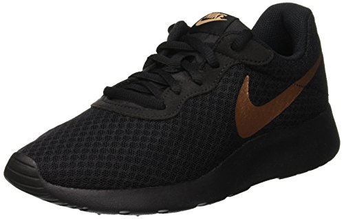Nike Women's Tanjun Black/Metallic Red Bronze 9 B US
