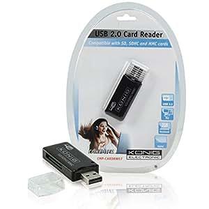 König CMP-CARDRW67 USB 2.0 Negro - Lector (MMC, SD, SDHC, USB 2.0, Negro)