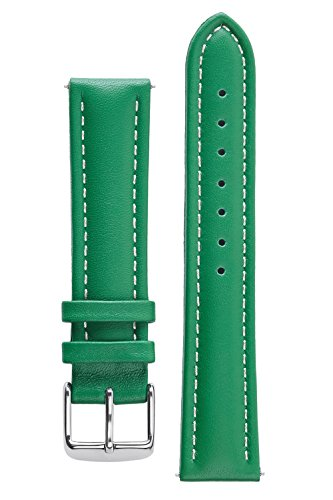 signature-bali-green-26-mm-waterproof-watch-band-calf-leather-watch-strap-replacement-bracelet-silve