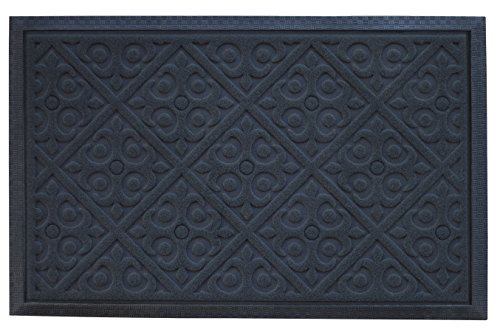 Cheap  Alpine Neighbor Door Mat | Washable Indoor/Outdoor Low Profile Doormat with Fleur-de-lis..