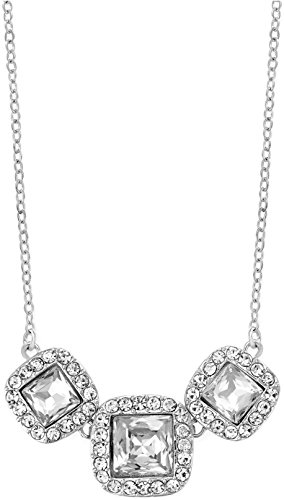 Charter Club Square Crystal Drama Necklace, 16