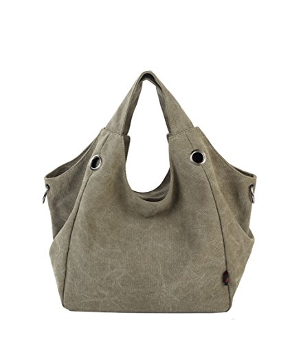 Shoulder Bags Black Slouch Bag Handbag Green Tote Bag Women Canvas Canvas Puluo Large for Arny wBSq11