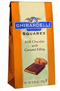B003AO73JE Ghirardelli Chocolate Squares, Milk Chocolate with Caramel Filling, 5.32-Ounce Packages (Pack of 6)