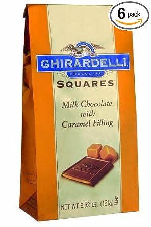 ghirardelli Chocolate cuadrados, Chocolate con leche con ...