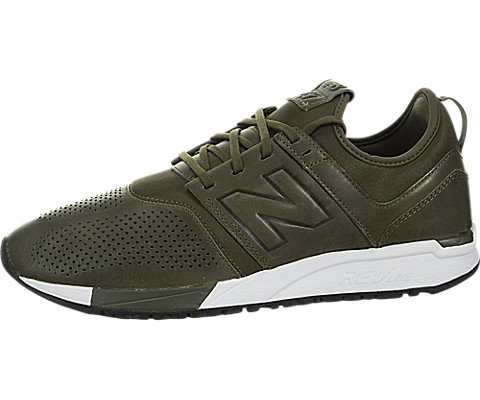 New Balance Men's MRL247NO, Olive With White, 9 D US