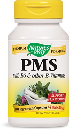 Natures Way PMS with B6 and other B-Vitamins, 100 Veg Caps (Formula Support Veg Caps Herbal)