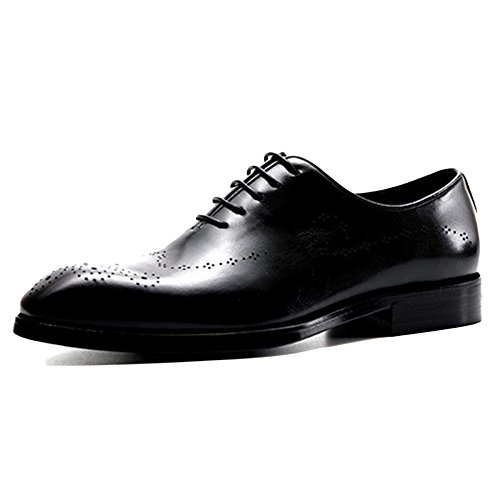 in for Black Brogue Scarpe Scarpe Antiscivolo da Pelle Uomo Men YPwxwdz