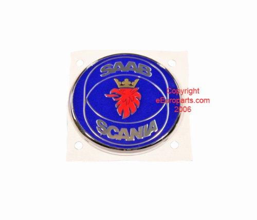 saab-9-5-99-00-front-hood-emblem-badge-genuine-new-complete-badge