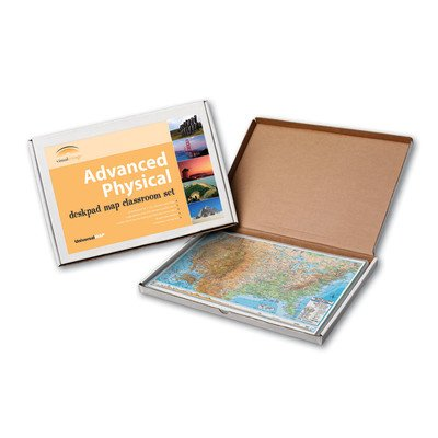 Physical Political Map Set (Advanced Physical Deskpad Class Set - United States)