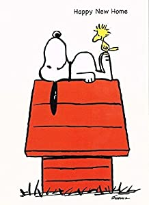 Snoopy happy new home card office products for Best home office video cards