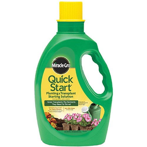 - Miracle-Gro Quick Start Planting and Transplanting Starting Solution, 48-Ounce (Starter Plant Fertilizer)